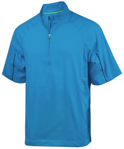 adidas Golf Men's climaproof Wind Short Sleeve Jacket 2 - coast - Medium