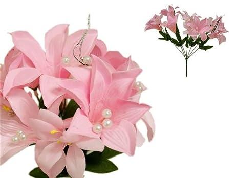 Amazon balsacircle 70 tiger lily silk wedding flowers balsacircle 70 tiger lily silk wedding flowers decorations wholesale pink mightylinksfo