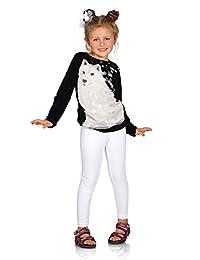 hi!mom Kids Cotton Leggings Girls Pants Plain Full Length Childrens Trousers Age 2-13