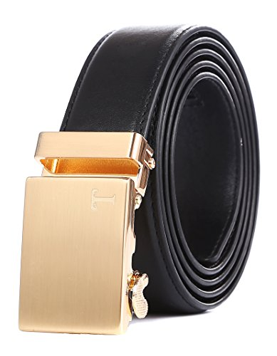 Tonywell Belts for Men Ratchet Belt with Removable Buckle 35mm Leather Belts Custom Fit (One Size:32