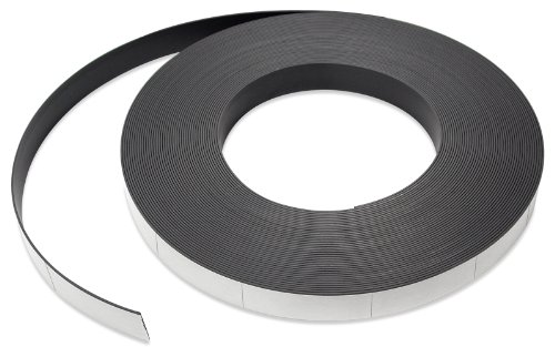 Flexible Magnet Strip with White Vinyl Coating, 1/32