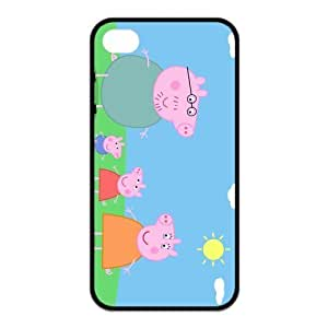 Peppa Pig Cute Design PC Protective Skin Case For Iphone 6 4.7Inch Cover iphone4s-NY699