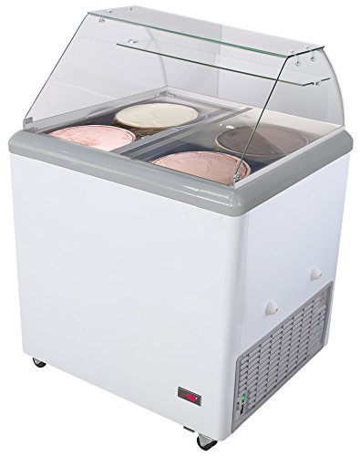 Chef's Exclusive Commercial Frost Free Ice Cream Dipping Cabinet Case Sub Zero Freezer Glass ...