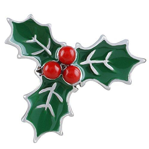 Christmas Holiday Mistletoe Interchangeable 18-20mm Snap Jewelry Enamel My Prime Gifts