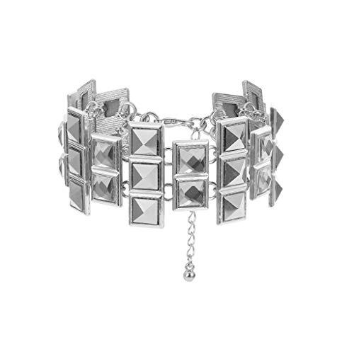 Clearance! Hot Sale! ❤ Luxurious Jewelry Temperament Lady Irregular Gemstone Large Diamond Bracelet Under 5 Dollars Valentine's Day Gifts for Girlfriend/Boysfriend 2019 New