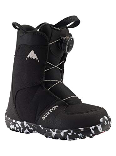 Burton Unisex-Youth Grom Boa Snowboard Boots, Black, 3K