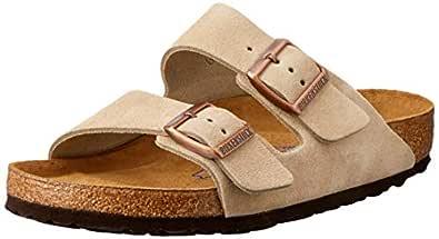 Birkenstock Australia Women's Arizona SFB Sandals, Taupe, 42 EU