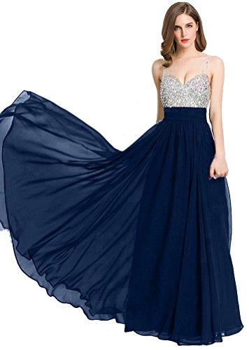 Senza Moda navy Donna Vestito blu maniche Emily Beauty tq1zPP