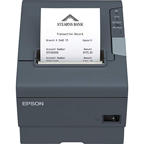 Epson T88V,MPOS,SERIAL/USB,DARK GREY,W/PWR SPLY,THERMAL RECEIPT . . . - Epson Ticket