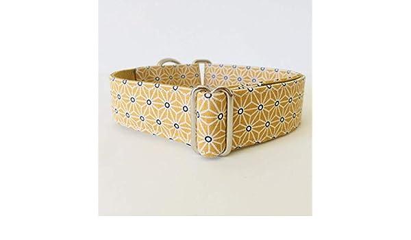 Collar Martingale para Perro Hecho a mano en España - Modelo Japan Amarillo: Amazon.es: Handmade