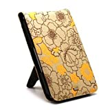 JAVOedge Poppy Flip Case for Barnes & Noble Nook (Sunny Yellow)