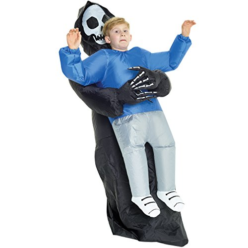 Morph KMCPIGR Boys Pick Me up Inflatable Costume, One Size, Grim Reaper Kids