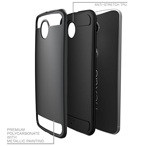 Nexus 6 Hülle, i-Blason® Motorola Nexus 6 Schutzhülle Unity Series 2- Schichten [Ultradünn], Armored Hybrid Cover mit TPU elastischer Innenhülle und harter Außenhülle für Motorola Nexus 6 Phone Schwarz