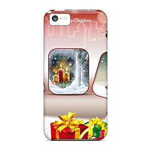 New Premium Flip Case Cover Christmas Fun Skin Case For Iphone 5c