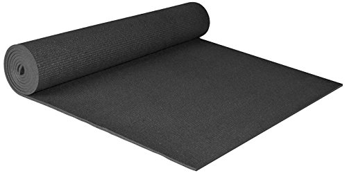 """YogaAccessories Extra Wide 1/4"""" Deluxe Yoga Mat – Black"""