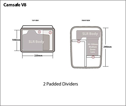 Bag Camera Venture Camsafe Shoulder V8 Anti Black Pacsafe Theft Black xS06npqXw
