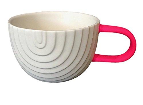 "2018 Starbucks Hot Pink Handle "" Rainbow "" Valentine Mug, 12 fl oz."