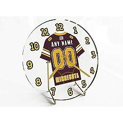 FanPlastic Big Ten College Football - Personalized Desktop Clocks - Size 7 X 7 X 2 - Any Name, Any Number, Any Team !!! (Minnesota)