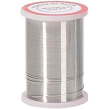 Bulk Buy: Darice DIY Crafts Beading Wire 34 Gauge Silver 24 yards (6-Pack) 32026-3