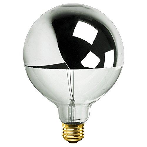 Bulbrite 712356 - 60 Watt - G40 Globe - Clear Silver Bowl - 1500 Life Hours - 527 Lumens - Medium Base - 120 Volt