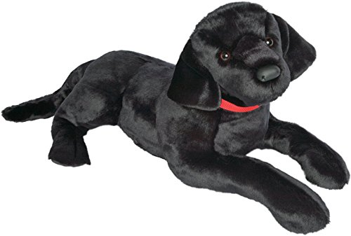 "Black Lab Plush Toy - Douglas Toy Plush Dickens Black Lab - 32""long"