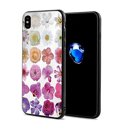 - Phone Case Cover Compatible with iPhone X XS,Pattern of Vase Flowers Petunia Botanic Wild Orchid Floral Nature Art Decor,Compatible with iPhone X/XS 5.8