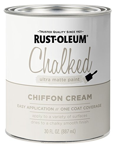 Rust-Oleum 329598 Chalked Ultra Matte Paint, 30 oz, Chiffon Cream