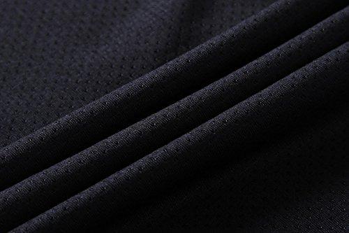 Jeansian Camicie Uomo Asciugatura shirts Poliestere Gray Sportivo Rapida Workout T Allenarsi Lsl189 TAOTS