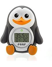 reer MyHappyPingu, digitale badthermometer, 2-in-1 bad- en kamerthermometer, timerfunctie en temperatuuralarm