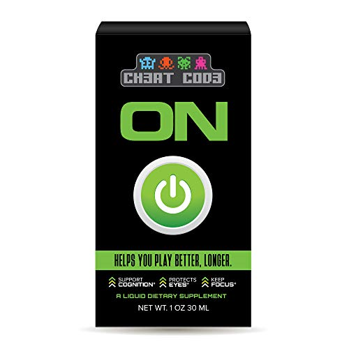 Ch3At Cod3 - ON, Gaming Performance Supplement, Nootropic Brain Support,  Oral Liquid Spray, 30 Servings