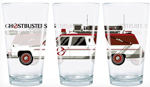 Ghostbusters Ecto 1 Ambulance One Pint Glass Tumbler   Officially Licensed  5 3 4  Tall