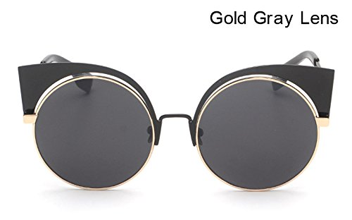 Lens Arrival AO1882 Lens Purple Glasses Cat Round Sunglass Eye Fygrend Sunglasses For Exaggeration Brand Gray Gold Women Red EYESHINE Mirror Women New Designer 4qZxfH