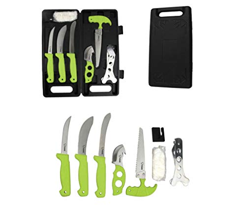 HME 9 Piece Deluxe Field Dressing Kit -Rubberized Handles- Stainless Steel-with Carrying Case