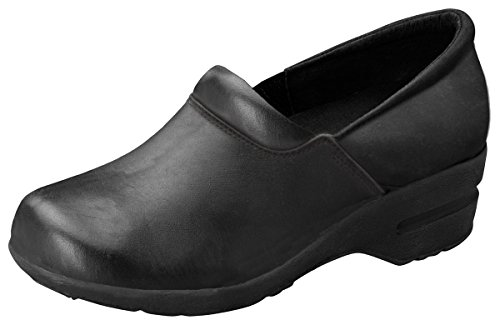 Cherokee Women's Patricia Leather Step-In Shoe, Black, 7 M US by Cherokee