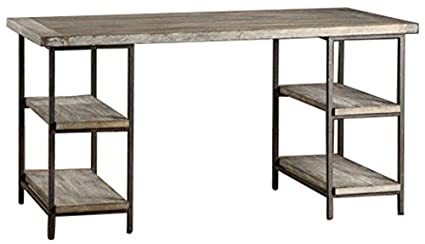 amazon com renate contemporary wood metal home office table modern