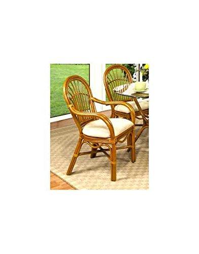 Boca Rattan O Antigua Rattan Dining Arm Chair Royal Oak, 641 80713-OG-66186-O-253156, Brown (Boca Rattan)