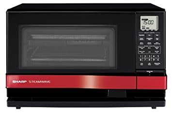 SHARP Horno microondas vapor 3 en 1 AX1100R - rojo: Amazon ...