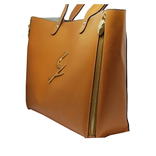Shopping Donna Grande Pelle Fashion G142lwa10144 zafferano Gattinoni Minerva Borsa In TqB5PTp