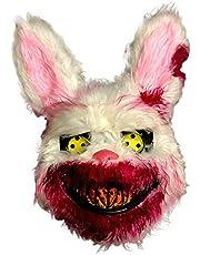 Boze bloedig konijnenmasker horrordiermasker Halloween horrormasker griezelig bloedig pluche haas masker voor Halloween feestjes decoratie rekwisieten