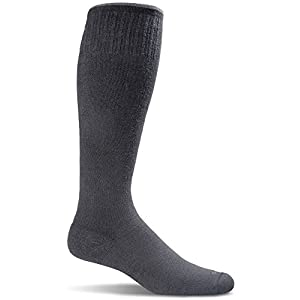Sockwell Men's Circulator Graduated Compression Socks-Ideal for Travel-Sports-Prolonged Sitting-Standing-Reduces Swelling, Black Solid, Large/X-Large