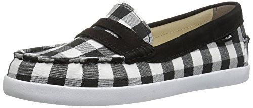 Cole Haan Women's Pinch Weeknder-Prep Prints, Black Gingham/Black Nubuck, 10.5 B (Gingham Flat)