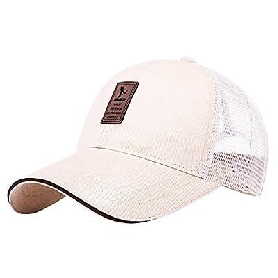 Men's Summer Baseball Cap Cotton Back Open Bun Hat Snapback Running Cap from iBaste_S