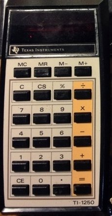 Texas Instruments TI-1250 Vintage Calculator