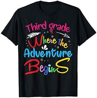 Third 3rd Grade Where the Adventure Begins  Teachers T-shirt | Size S - 5XL