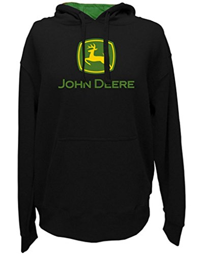 John Deere Hooded Logo Sweatshirt Black - XXXL