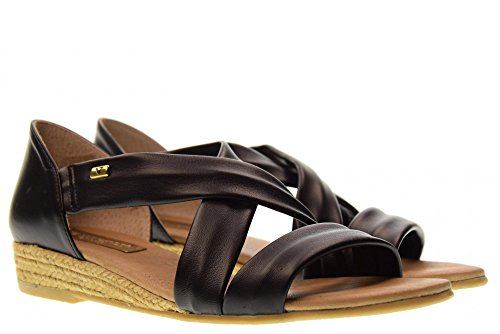 Noir Black Chaussures Sandales 40101 Femme Valleverde XxHnBUx