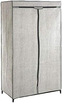 Armario de tela, color gris claro: Amazon.es: Hogar