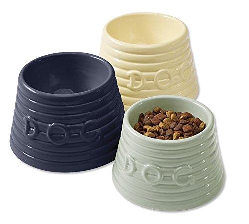 (Bauer Pottery Spaniel Dog Bowl, Gray, Large)