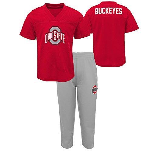 Ohio Print Shorts - Gen 2 NCAA Ohio State Buckeyes Toddler Training Camp Top & Short Set, 4T, Red
