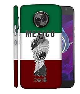 ColorKing Football Mexico 05 Multicolor shell case cover for Motorola Moto X4